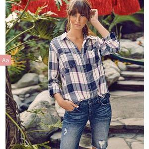 KUT from the KLOTH Jeans Hannah Bottondown Top NWT